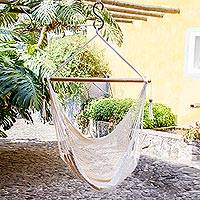 Cotton hammock swing, 'Ocotal Sands' - Handcrafted Cotton Hammock Swing