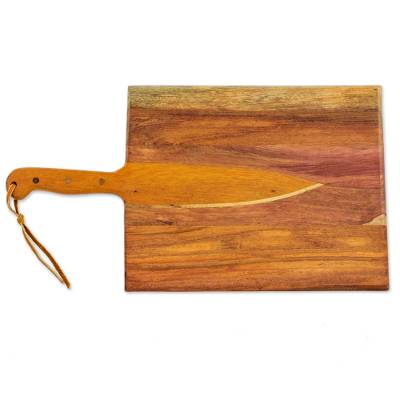 handmade wood chopping board from nicaragua chef 39 s knife novica. Black Bedroom Furniture Sets. Home Design Ideas