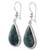 Jade dangle earrings, 'Light Green Sacred Quetzal' - Artisan Crafted Sterling Silver and Light Green Earrings (image 2b) thumbail
