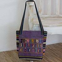 Cotton shoulder bag, 'Ixil Prosperity Omen' - Artisan Crafted 100% Cotton Shoulder Bag Multicolor Maya Art