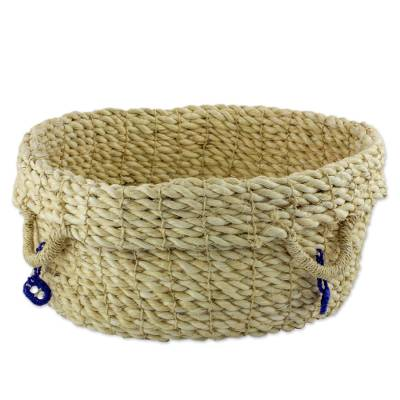 Hand Crafted Agave Fiber Basket from Central America