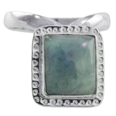 Guatemalan Jade on Artisan Crafted Sterling Silver Ring