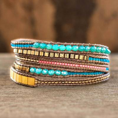Beaded Wrap Bracelet Multicolor Fiesta From Crafted