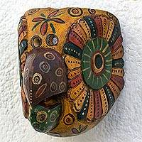 Wood mask, 'Yellow Parrot'
