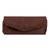 Leather clutch handbag, 'El Salvador Earth' - Artisan Crafted Brown Leather Clutch Purse with Lacings (image 2a) thumbail