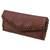 Leather clutch handbag, 'El Salvador Earth' - Artisan Crafted Brown Leather Clutch Purse with Lacings (image 2b) thumbail