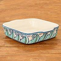 Ceramic baking dish, 'Quehueche' (10x8) - 10 by 8 Inch Handcrafted Ceramic Baking Dish from Guatemala