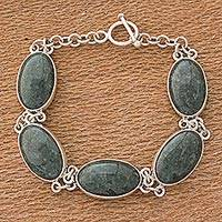 Jade link bracelet, 'Sweet Melodies'