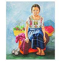 'Brenda' (2014) - Original Oil Painting Portrait of a Girl from Guatemala