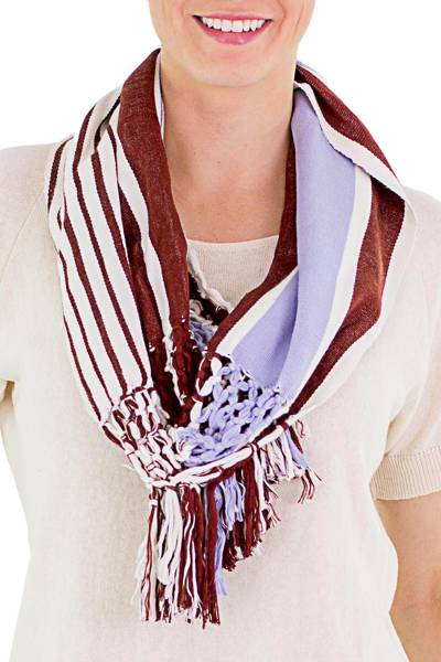 Cotton infinity scarf, Exuberant Beauty in Russet