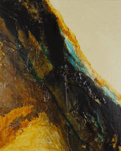 'Aphonia 82' - Original Mixed Media Abstract Painting in Earth Tones
