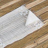 Cotton placemat and napkin, 'Stellar Dinner' (pair) - Cotton Placemat and Napkin Set of 2 from Guatemala
