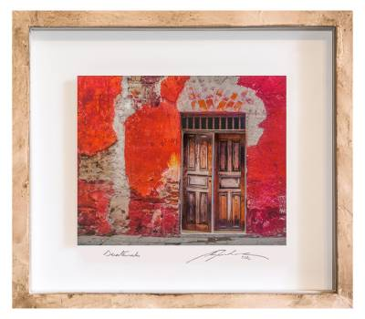 Framed 3D Photograph Collage Art Red Doorway from Guatemala - The ...