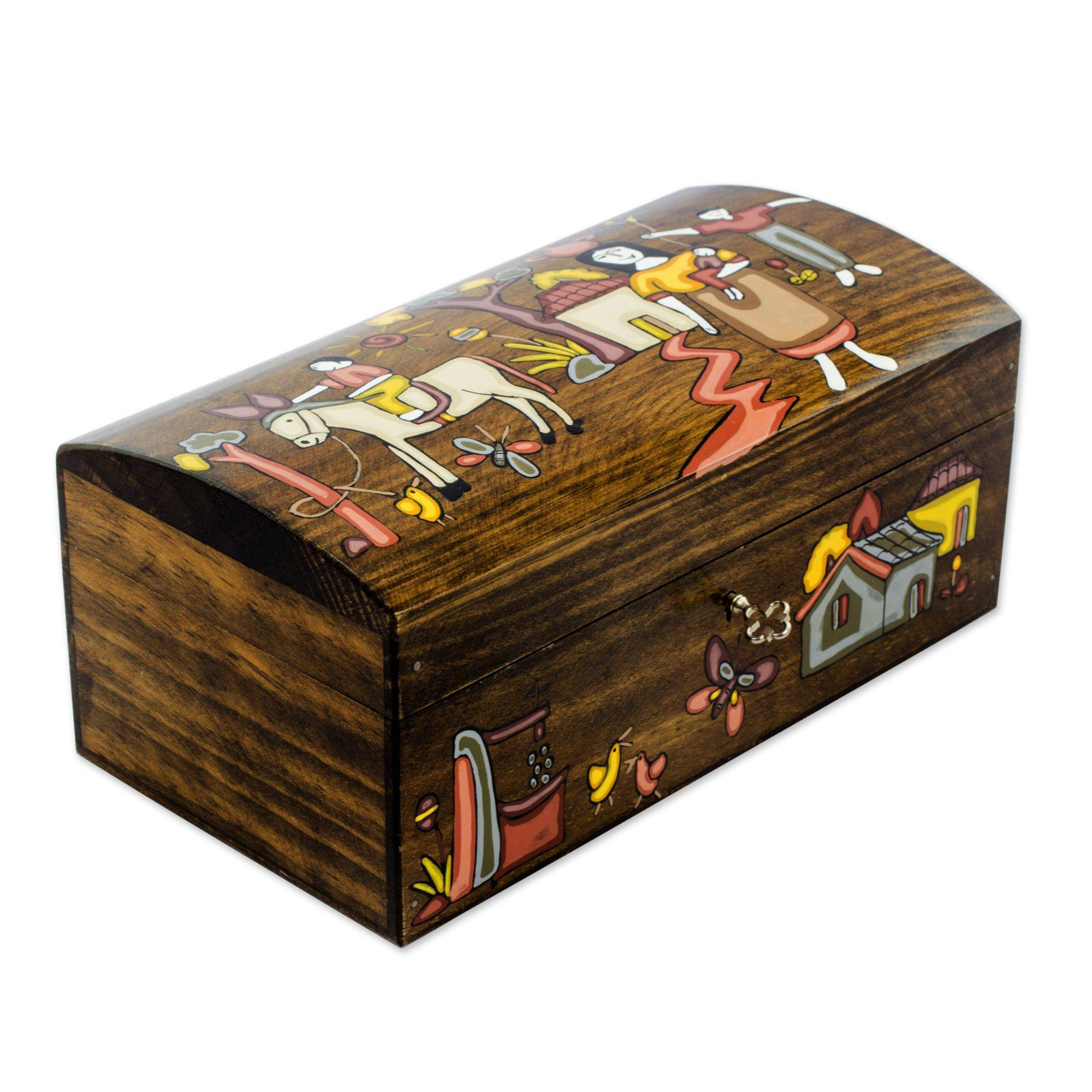 Wood jewelry boxes at novica