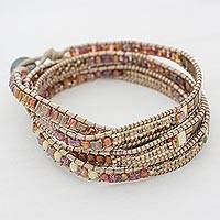 Featured review for Glass beaded wrap bracelet, Autumn Sweetness