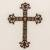 Iron wall cross, 'Walk With Jesus' - Iron Wall Decor of an Antiqued Cross from Guatemala (image 2) thumbail