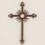 Iron wall cross, 'Antiqued Solar Cross' - Antiqued Iron Wall Decor Sun Cross from Guatemala (image 2) thumbail