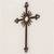 Iron wall cross, 'Antiqued Solar Cross' - Antiqued Iron Wall Decor Sun Cross from Guatemala (image 2b) thumbail