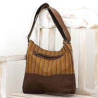 Cotton blend shoulder bag, 'World of Discovery' - Hand Woven Cotton Polyester Blend Shoulder Bag Guatemala