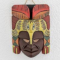 Wood mask, 'Festive Flight'