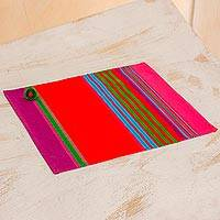 Cotton placemats, 'Vibrant Countryside' (set of 4) - Multicolored Cotton Placemats (Set of 4) from Guatemala