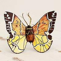 Ceramic sculpture 'False Sphinx Moth' - Hand Crafted Ceramic False Sphinx Moth Sculpture
