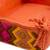 Cotton serving basket, 'Persimmon Morning' - Cotton Serving Basket in Persimmon from Guatemala (image 2e) thumbail