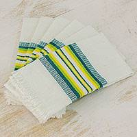 Cotton napkins, 'Culinary Inspiration' (set of 6) - Multicolor 100% Cotton Napkins from Guatemala (Set of 6)