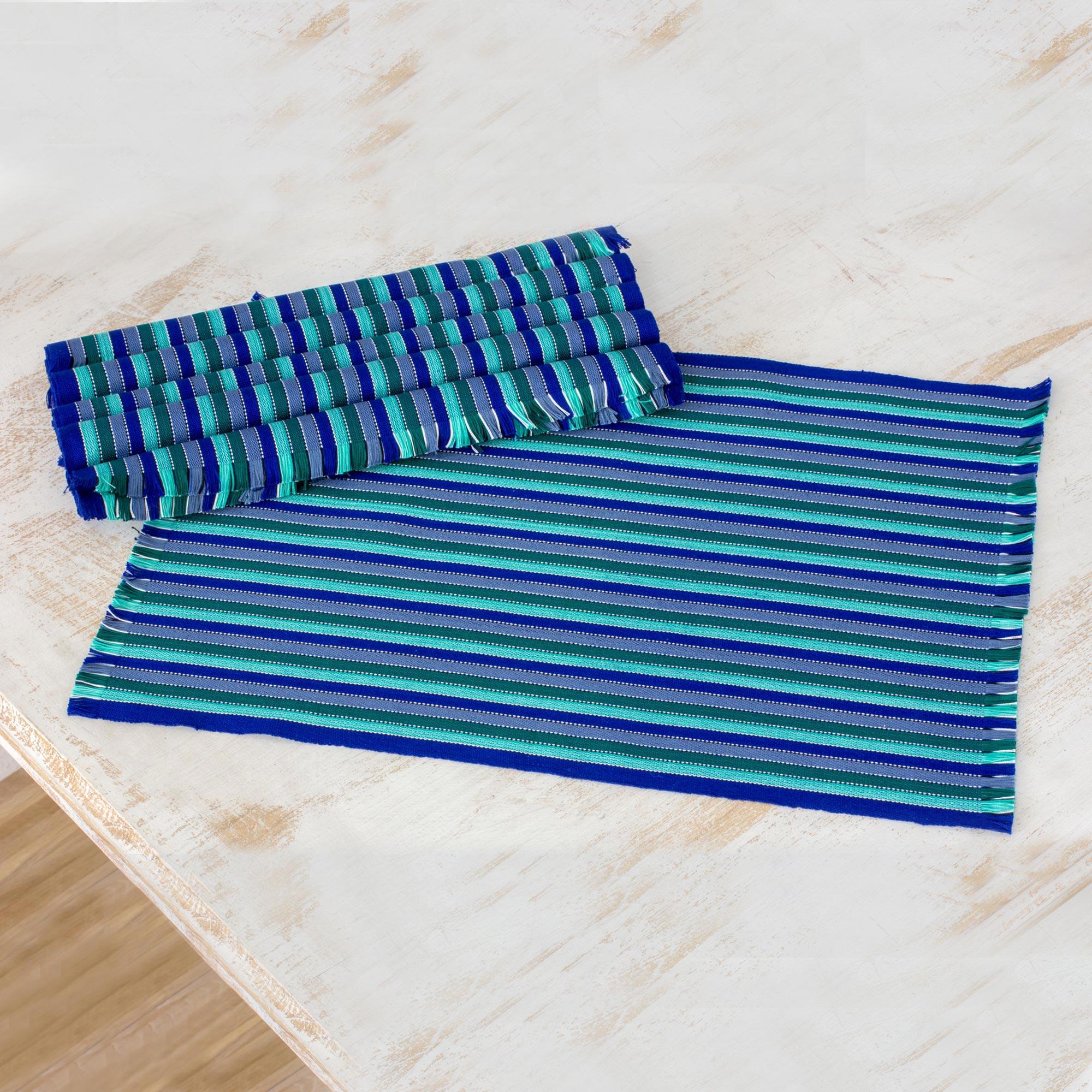 Cotton Fabric Placemats Lime 6Set