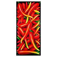 'Chilies' - Signed Realist Painting of Chili Peppers from Guatemala