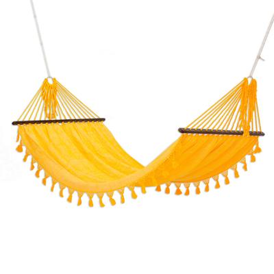 Handwoven Yellow Cotton Hammock (Single) from Guatemala