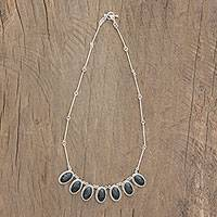 Jade pendant necklace, 'Natural Bond' - Oval Jade and Silver Pendant Necklace from Guatemala
