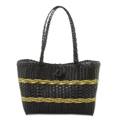 Handcrafted Recycled Plastic Tote from Gautemala