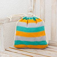 Multi-purpose cotton tote, 'Beach Afternoon' - Multicolored Multi-Purpose Cotton Tote from Guatemala