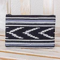 Cotton clutch, 'Jaspe Mountains' - Handwoven Patterned Cotton Clutch Handbag from Guatemala