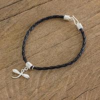 Sterling silver charm bracelet, 'Dragonfly Glimmer' - Sterling Silver Dragonfly Charm Bracelet from Guatemala