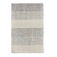 Wool and cotton rug, 'Lands of Guatemala' (2x3) - Hand Woven Wool and Cotton Striped Rug from Guatemala