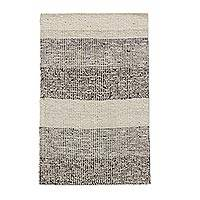 Wool and cotton rug, 'Village Roads' (2x3) - Guatemalan Handwoven Rectangular Cotton and Wool Striped Rug