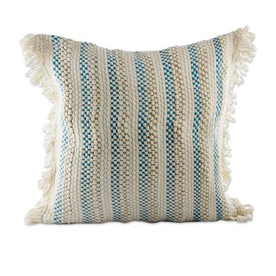 Hand Woven Cotton Blend Cushion Cover from Guatemala