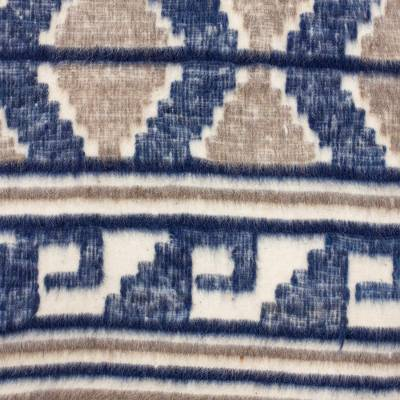 Blue Wool Area Rug - Mountain Cabin