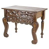 Wood console table, 'Esteemed' - Handcrafted Pinewood Console Table from Guatemala
