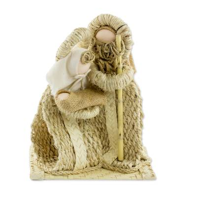 Natural fiber nativity scene, 'Unrivaled Love' - Artisan Crafted Agave and Palm Nativity Scene from Guatemala