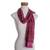 Rayon chenille scarf, 'Mulberry Love' - Handwoven Striped Purple and Brown Rayon Chenille Scarf (image 2d) thumbail