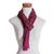 Rayon chenille scarf, 'Mulberry Love' - Handwoven Striped Purple and Brown Rayon Chenille Scarf (image 2e) thumbail