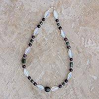 Multi-gemstone beaded necklace, 'Natural Fields' - Multi-Gemstone Beaded Necklace from Guatemala