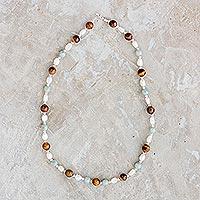 Multi-gemstone beaded necklace, 'Fertile Land'