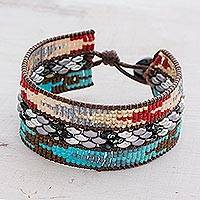 Featured review for Glass beaded wristband bracelet, Guiding Arrows