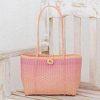 Recycled plastic shoulder bag, 'Feminine Sweetness' - Handwoven Recycled Plastic Shoulder Bag from Guatemala