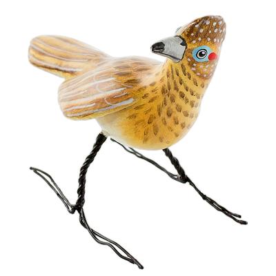 Ceramic figurine, 'Roadrunner' - Guatemalan Artisan Crafted Roadrunner Ceramic Bird Figurine