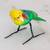 Ceramic figurine, 'Yellow-Headed Parrot' - Hand Sculpted Ceramic Yellow Headed Parrot Figurine (image 2) thumbail